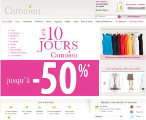 Test Utilisateur du site Camaieu.fr par weXperience.fr