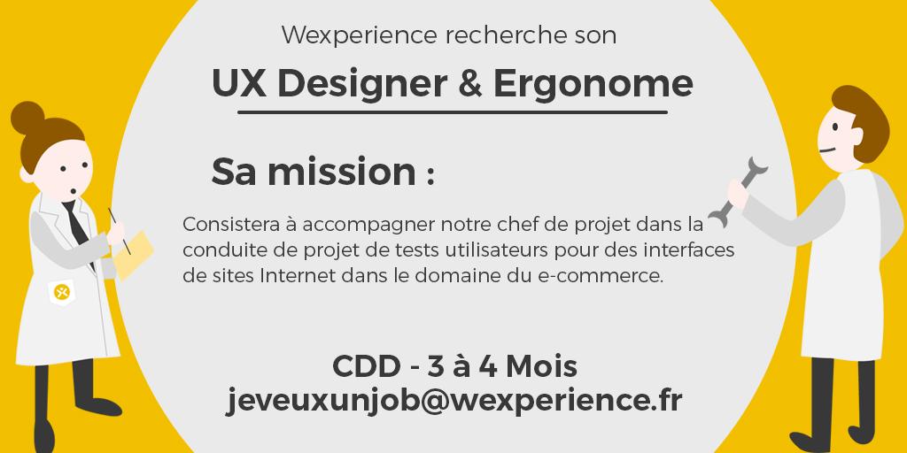 Recherche UX Designer & Ergonome