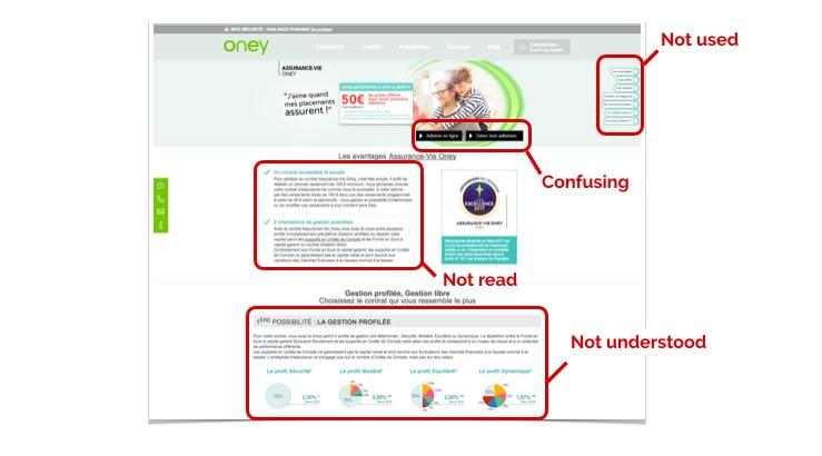 Analyse page Oney : le premier test utilisateur va pouvoir permettre de renforcer l'équipe de conception dans ses convictions et rationnaliser l'analyse d'un point de vue utilisateur final