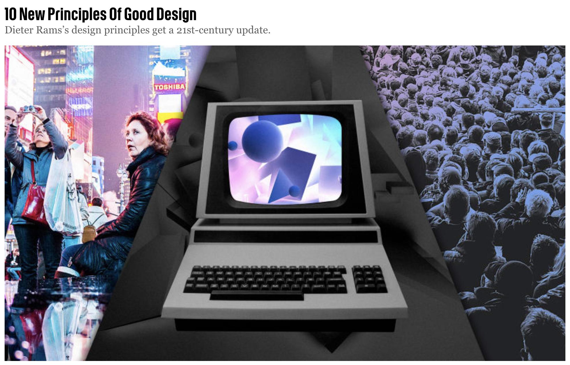 10 New Principles Of Good Design