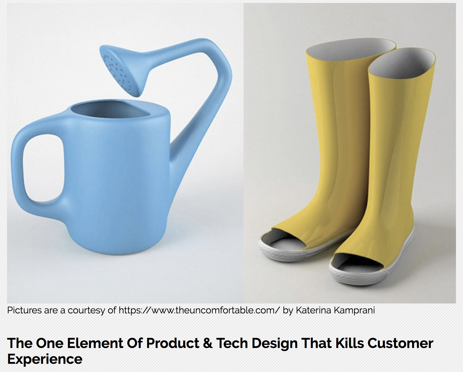 The one element of product & tech design that kills customer experience